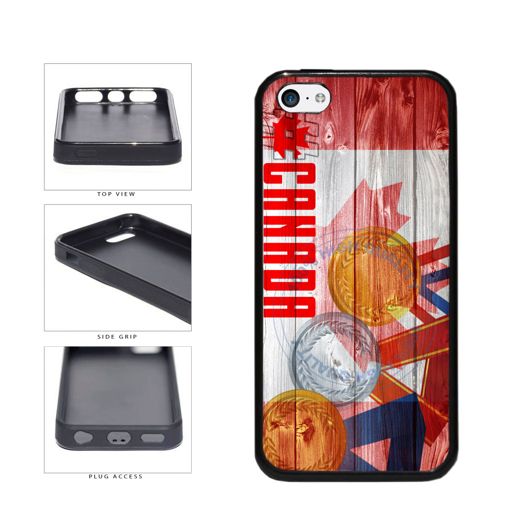 Sport Games Hashtag Team Canada #Canada TPU Rubber SILICONE Phone Case Back Cover For Apple iPhone 5c includes BleuReign(TM) Cloth and Warranty Label