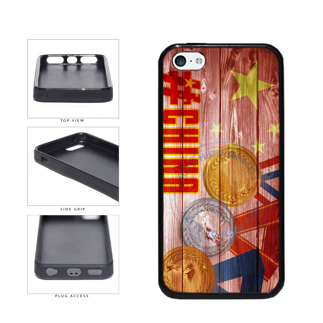 Sport Games Hashtag Team China #China TPU Rubber SILICONE Phone Case Back Cover For Apple iPhone 5c includes BleuReign(TM) Cloth and Warranty Label
