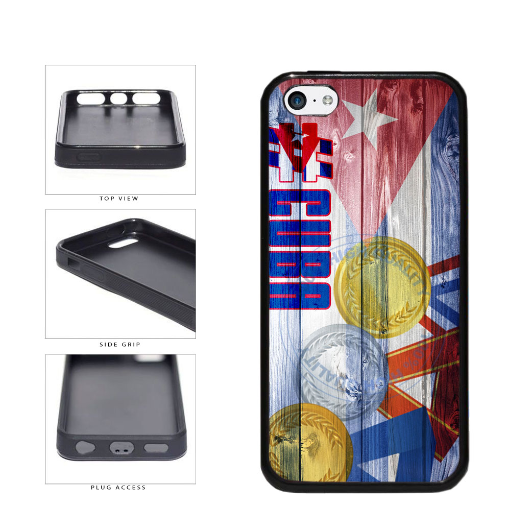Sport Games Hashtag Team Cuba #Cuba TPU Rubber SILICONE Phone Case Back Cover For Apple iPhone 5c includes BleuReign(TM) Cloth and Warranty Label