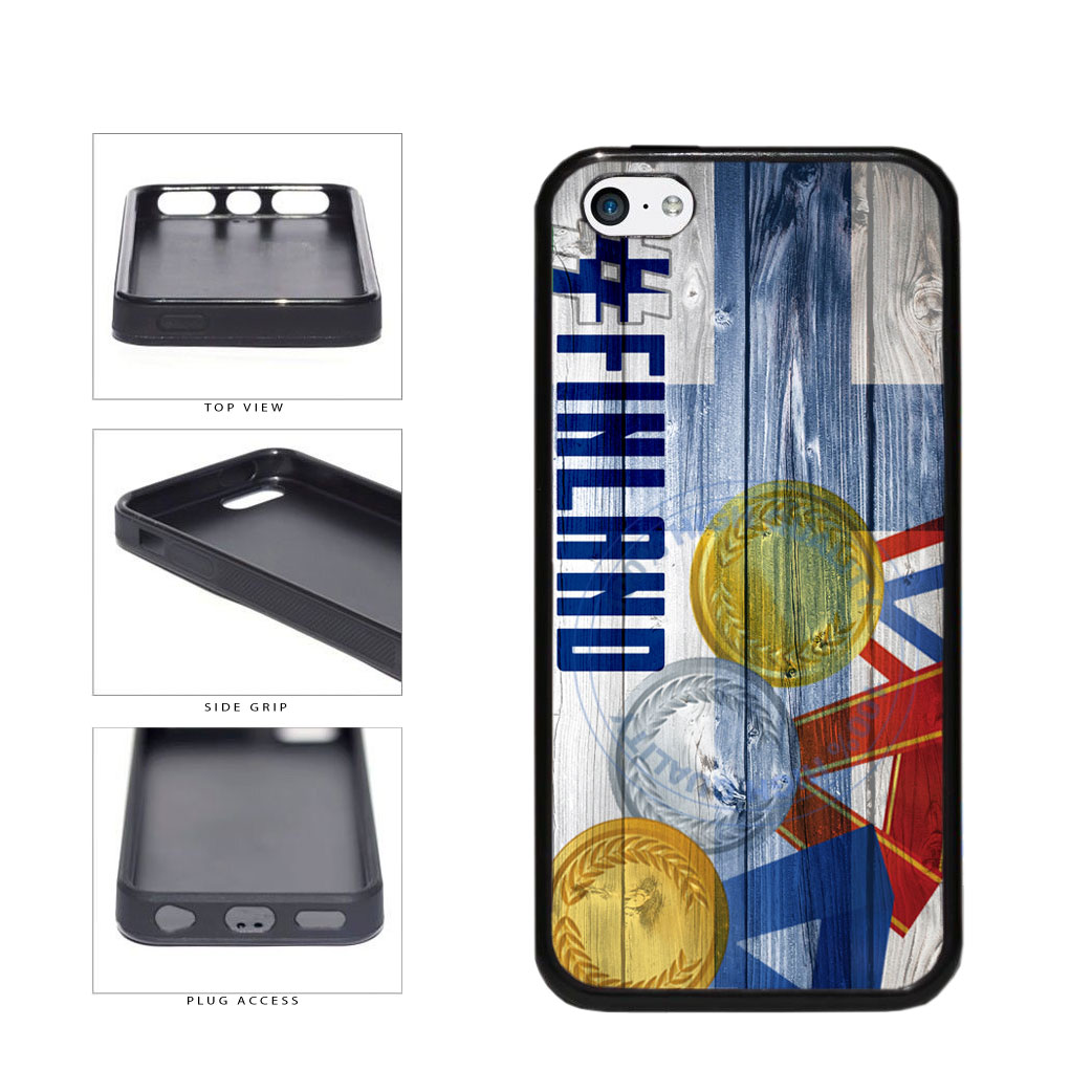 Sport Games Hashtag Team Finland #Finland TPU Rubber SILICONE Phone Case Back Cover For Apple iPhone 5c includes BleuReign(TM) Cloth and Warranty Label