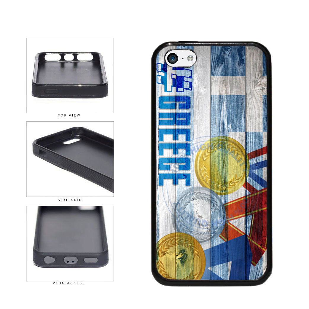 Sport Games Hashtag Team Greece #Greece TPU Rubber SILICONE Phone Case Back Cover For Apple iPhone 5c includes BleuReign(TM) Cloth and Warranty Label