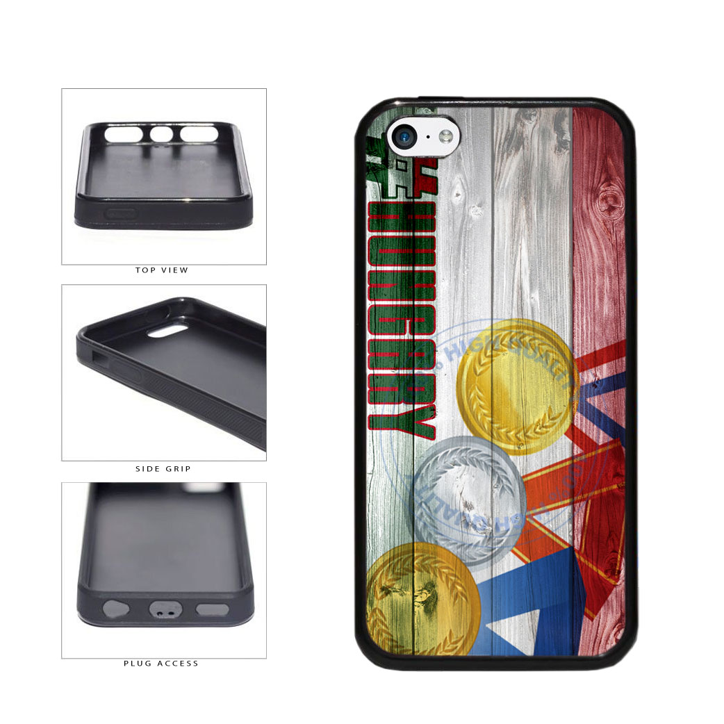 Sport Games Hashtag Team Hungary #Hungary TPU Rubber SILICONE Phone Case Back Cover For Apple iPhone 5c includes BleuReign(TM) Cloth and Warranty Label