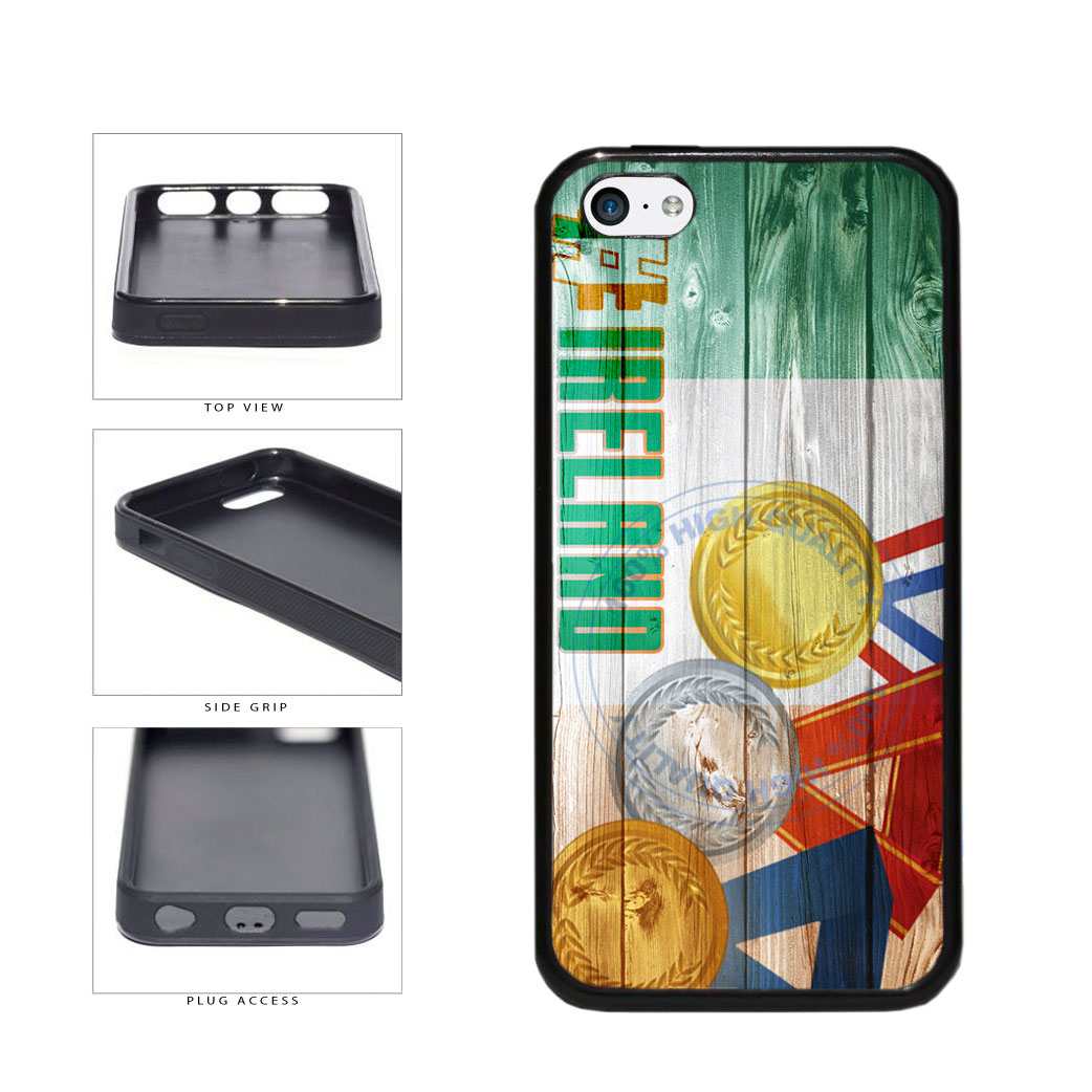 Sport Games Hashtag Team Ireland #Ireland TPU Rubber SILICONE Phone Case Back Cover For Apple iPhone 5c includes BleuReign(TM) Cloth and Warranty Label