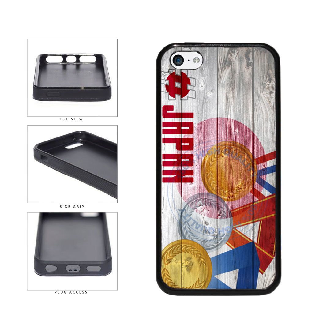 Sport Games Hashtag Team Japan #Japan TPU Rubber SILICONE Phone Case Back Cover For Apple iPhone 5c includes BleuReign(TM) Cloth and Warranty Label