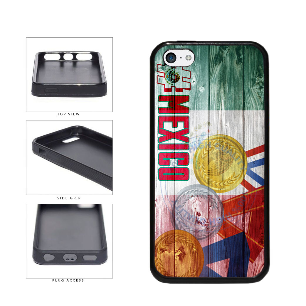 Sport Games Hashtag Team Mexico #Mexico TPU Rubber SILICONE Phone Case Back Cover For Apple iPhone 5c includes BleuReign(TM) Cloth and Warranty Label
