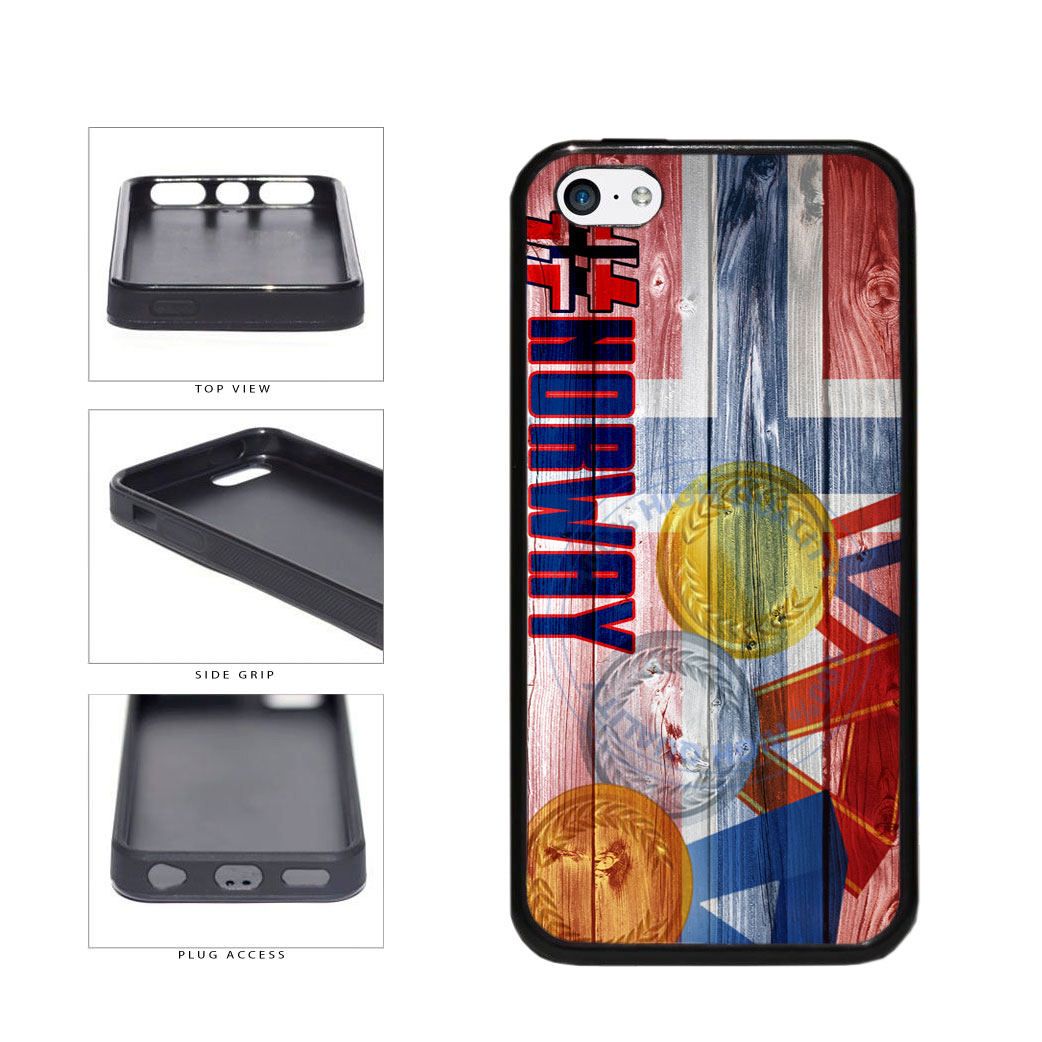 Sport Games Hashtag Team Norway #Norway TPU Rubber SILICONE Phone Case Back Cover For Apple iPhone 5c includes BleuReign(TM) Cloth and Warranty Label