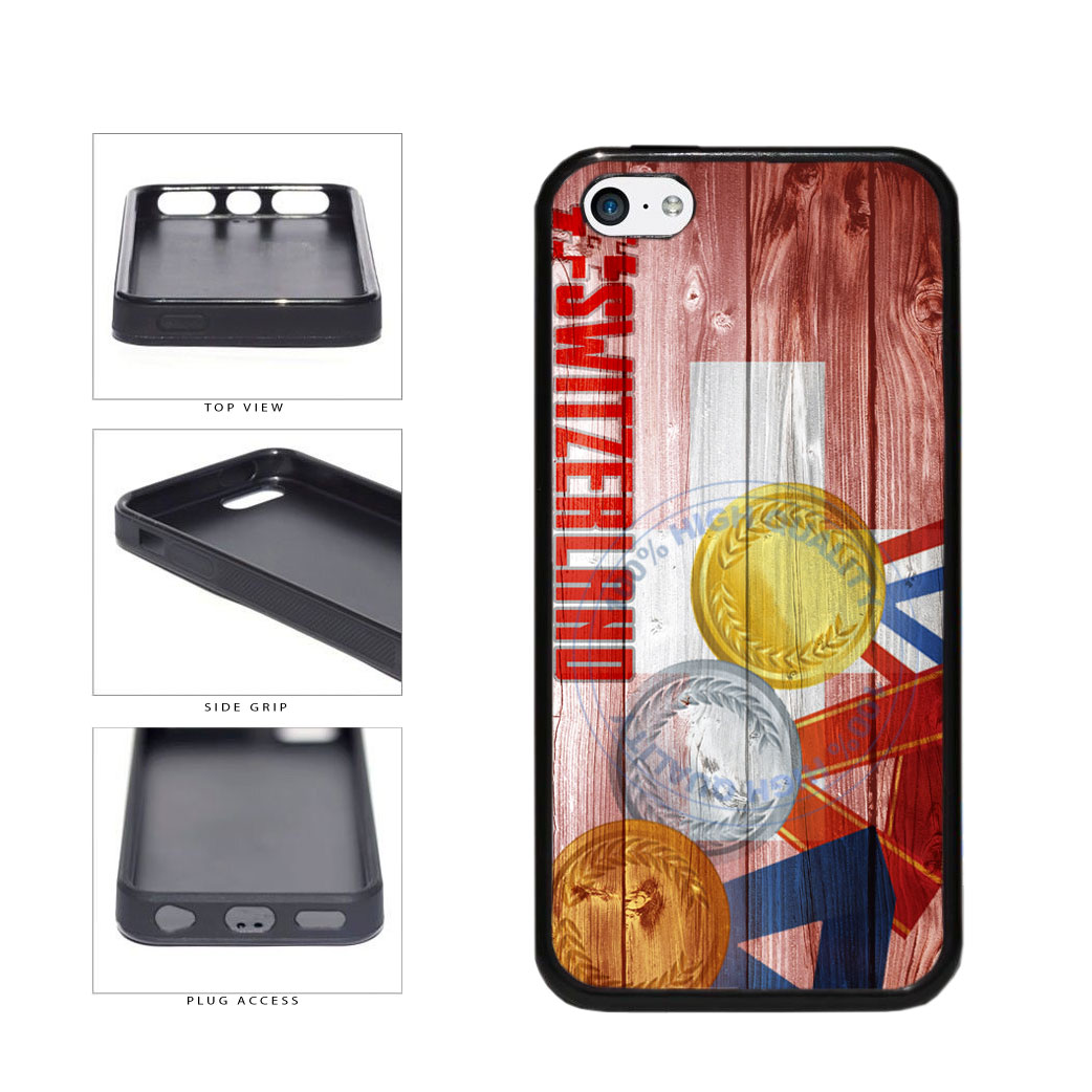 Sport Games Hashtag Team Switzerland #Switzerland TPU Rubber SILICONE Phone Case Back Cover For Apple iPhone 5c includes BleuReign(TM) Cloth and Warranty Label