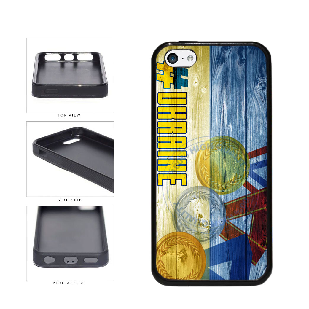 Sport Games Hashtag Team Ukraine #Ukraine TPU Rubber SILICONE Phone Case Back Cover For Apple iPhone 5c includes BleuReign(TM) Cloth and Warranty Label