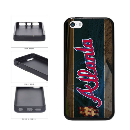 Hashtag Atlanta #Atlanta Baseball Team  TPU Rubber SILICONE Phone Case Back Cover For Apple iPhone 5c includes BleuReign(TM) Cloth and Warranty Label