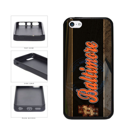 Hashtag Baltimore #Baltimore Baseball Team  TPU Rubber SILICONE Phone Case Back Cover For Apple iPhone 5c includes BleuReign(TM) Cloth and Warranty Label