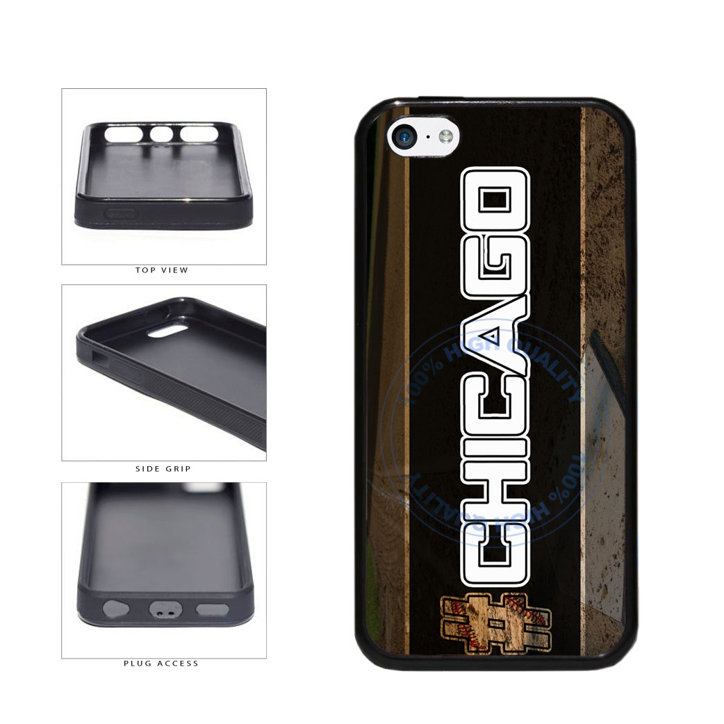 Hashtag Chicago #Chicago White Baseball Team  TPU Rubber SILICONE Phone Case Back Cover For Apple iPhone 5c includes BleuReign(TM) Cloth and Warranty Label