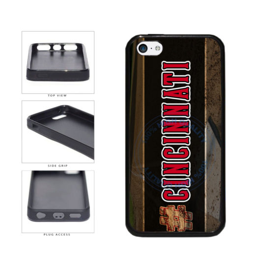 Hashtag Cincinnati #Cincinnati Baseball Team  TPU Rubber SILICONE Phone Case Back Cover For Apple iPhone 5c includes BleuReign(TM) Cloth and Warranty Label