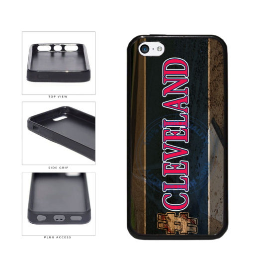 Hashtag Cleveland #Cleveland Baseball Team  TPU Rubber SILICONE Phone Case Back Cover For Apple iPhone 5c includes BleuReign(TM) Cloth and Warranty Label