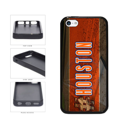 Hashtag Houston #Houston Baseball Team  TPU Rubber SILICONE Phone Case Back Cover For Apple iPhone 5c includes BleuReign(TM) Cloth and Warranty Label