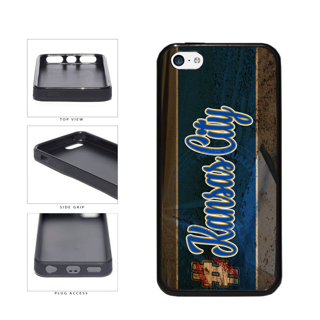 Hashtag Kansas City #KansasCity Baseball Team  TPU Rubber SILICONE Phone Case Back Cover For Apple iPhone 5c includes BleuReign(TM) Cloth and Warranty Label