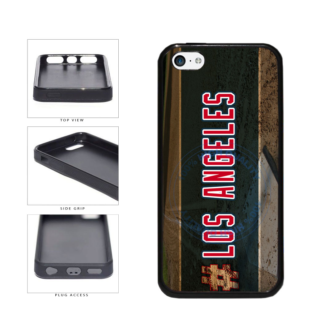 Hashtag Los Angeles #LosAngeles Anaheim Baseball Team TPU Rubber SILICONE Phone Case Back Cover For Apple iPhone 5c includes BleuReign(TM) Cloth and Warranty Label