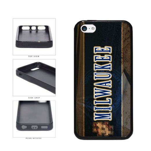 Hashtag Milwaukee #Milwaukee Baseball Team  TPU Rubber SILICONE Phone Case Back Cover For Apple iPhone 5c includes BleuReign(TM) Cloth and Warranty Label