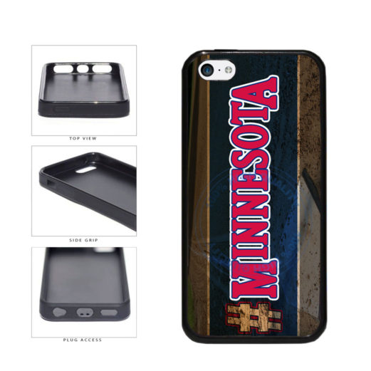 Hashtag Minnesota #Minnesota Baseball Team  TPU Rubber SILICONE Phone Case Back Cover For Apple iPhone 5c includes BleuReign(TM) Cloth and Warranty Label