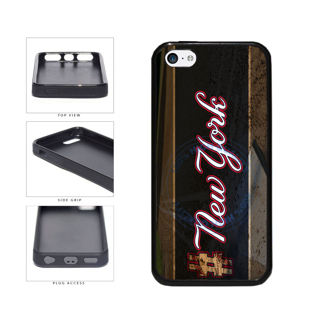 Hashtag New York #NewYork Blue Baseball Team  TPU Rubber SILICONE Phone Case Back Cover For Apple iPhone 5c includes BleuReign(TM) Cloth and Warranty Label