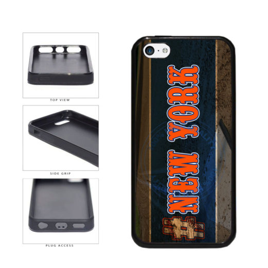 Hashtag New York #NewYork Orange Baseball Team  TPU Rubber SILICONE Phone Case Back Cover For Apple iPhone 5c includes BleuReign(TM) Cloth and Warranty Label