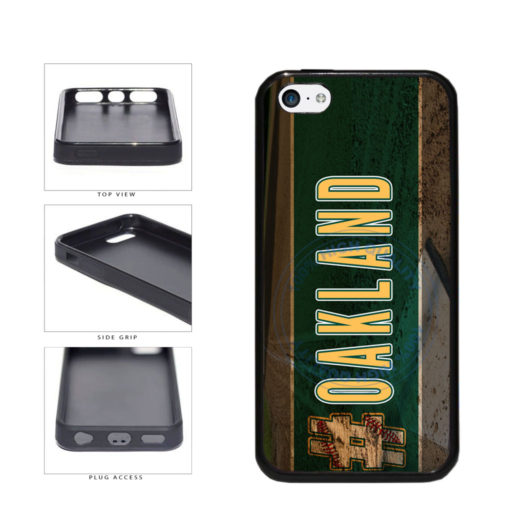 Hashtag Oakland #Oakland Baseball Team  TPU Rubber SILICONE Phone Case Back Cover For Apple iPhone 5c includes BleuReign(TM) Cloth and Warranty Label