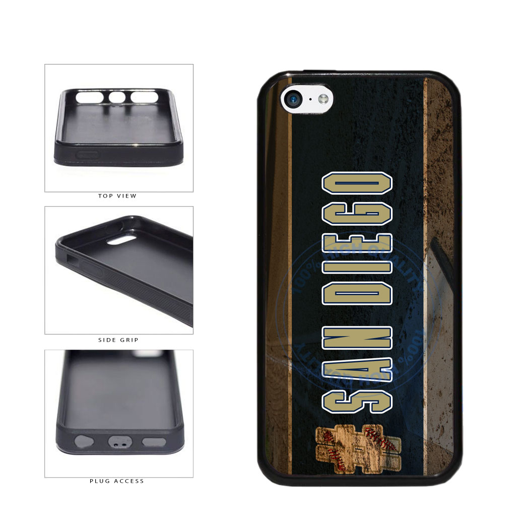 Hashtag San Diego #SanDiego Baseball Team  TPU Rubber SILICONE Phone Case Back Cover For Apple iPhone 5c includes BleuReign(TM) Cloth and Warranty Label