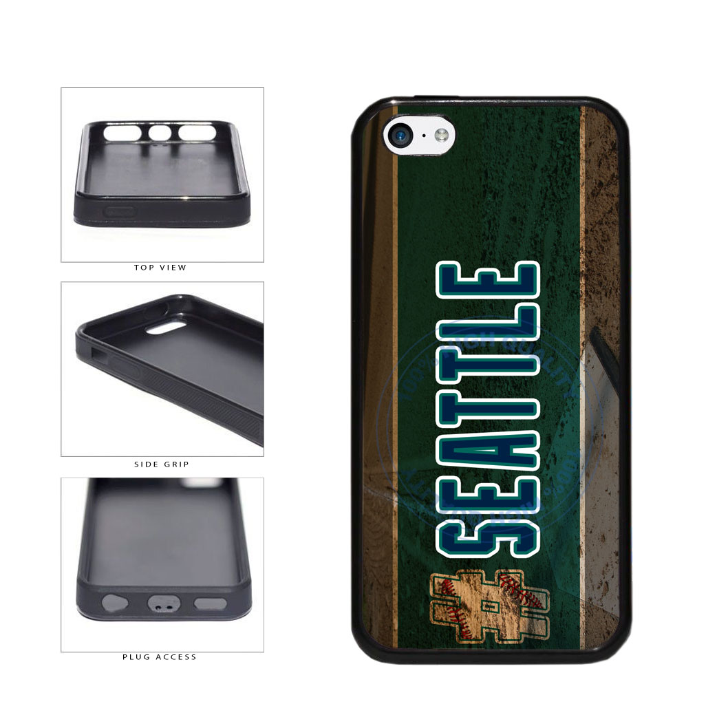 Hashtag Seattle #Seattle Baseball Team  TPU Rubber SILICONE Phone Case Back Cover For Apple iPhone 5c includes BleuReign(TM) Cloth and Warranty Label
