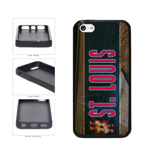 Hashtag St Louis #StLouis Baseball Team TPU Rubber SILICONE Phone Case Back Cover For Apple iPhone 5c includes BleuReign(TM) Cloth and Warranty Label