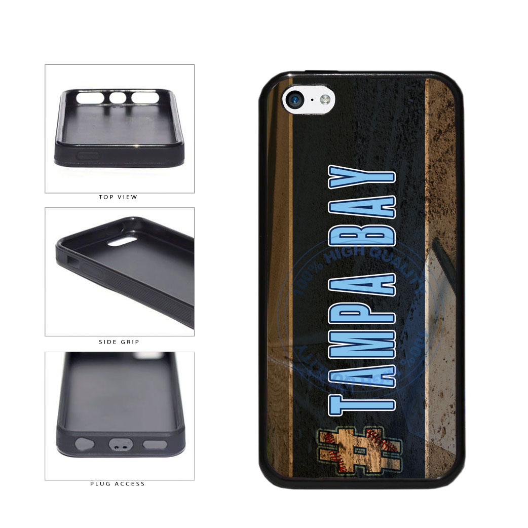Hashtag Tampa Bay #TampaBay Baseball Team  TPU Rubber SILICONE Phone Case Back Cover For Apple iPhone 5c includes BleuReign(TM) Cloth and Warranty Label