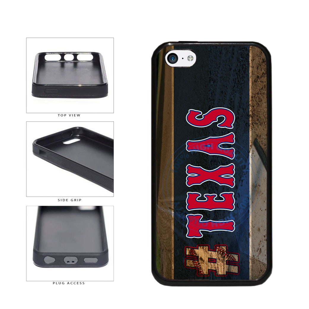 Hashtag Texas #Texas Baseball Team  TPU Rubber SILICONE Phone Case Back Cover For Apple iPhone 5c includes BleuReign(TM) Cloth and Warranty Label