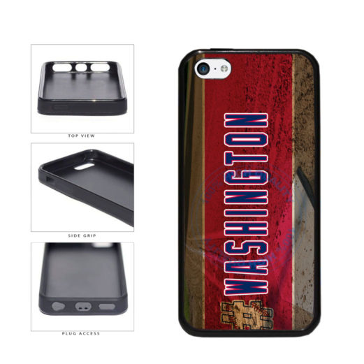 Hashtag Washington #Washington Baseball Team  TPU Rubber SILICONE Phone Case Back Cover For Apple iPhone 5c includes BleuReign(TM) Cloth and Warranty Label