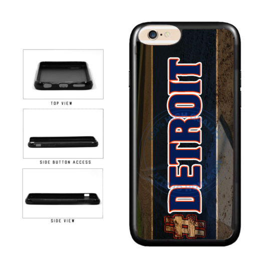 Hashtag Detroit #Detroit Baseball Team  TPU Rubber SILICONE Phone Case Back Cover For Apple iPhone 6 Plus 6s Plus (5.5 Inches Screen) includes BleuReign(TM) Cloth and Warranty Label