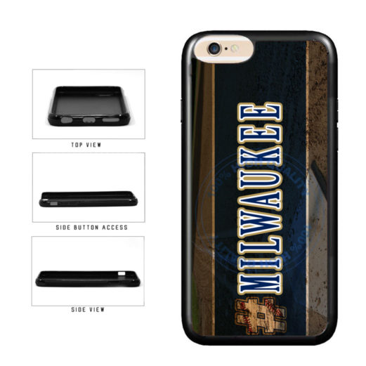 Hashtag Milwaukee #Milwaukee Baseball Team  TPU Rubber SILICONE Phone Case Back Cover For Apple iPhone 6 Plus 6s Plus (5.5 Inches Screen) includes BleuReign(TM) Cloth and Warranty Label
