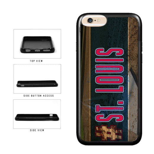 Hashtag St Louis #StLouis Baseball Team TPU Rubber SILICONE Phone Case Back Cover For Apple iPhone 6 6s (4.7 Inches Screen) includes BleuReign(TM) Cloth and Warranty Label