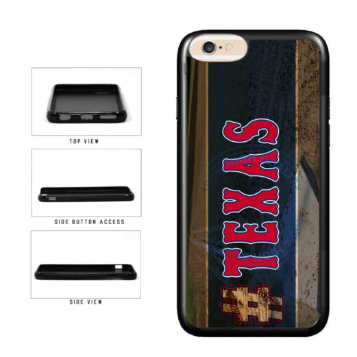 Hashtag Texas #Texas Baseball Team  TPU Rubber SILICONE Phone Case Back Cover For Apple iPhone 6 6s (4.7 Inches Screen) includes BleuReign(TM) Cloth and Warranty Label