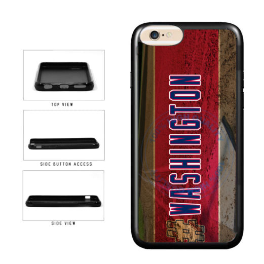 Hashtag Washington #Washington Baseball Team  TPU Rubber SILICONE Phone Case Back Cover For Apple iPhone 6 6s (4.7 Inches Screen) includes BleuReign(TM) Cloth and Warranty Label