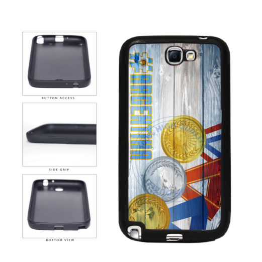 Sport Games Hashtag Team Argentina #Argentina TPU Rubber SILICONE Phone Case Back Cover For Samsung Galaxy Note II 2 N7100 includes BleuReign(TM) Cloth and Warranty Label