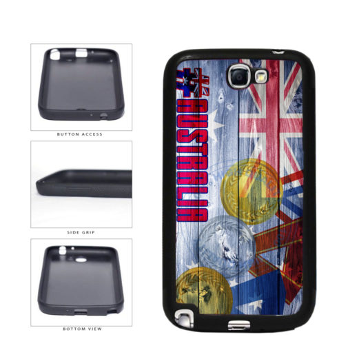 Sport Games Hashtag Team Australia #Australia TPU Rubber SILICONE Phone Case Back Cover For Samsung Galaxy Note II 2 N7100 includes BleuReign(TM) Cloth and Warranty Label