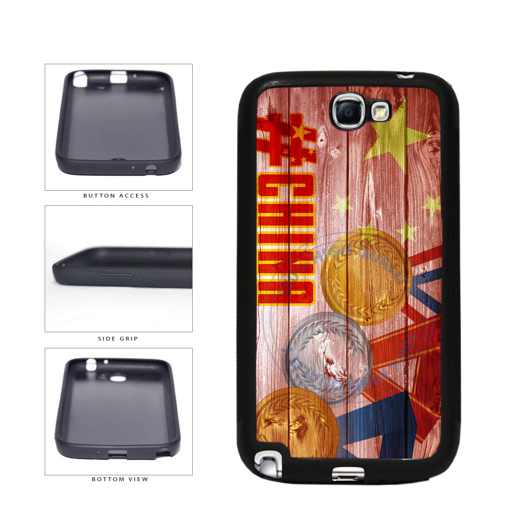 Sport Games Hashtag Team China #China TPU Rubber SILICONE Phone Case Back Cover For Samsung Galaxy Note II 2 N7100 includes BleuReign(TM) Cloth and Warranty Label