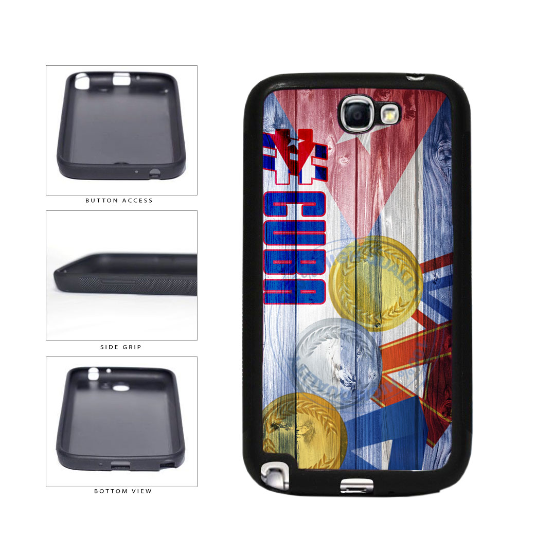 Sport Games Hashtag Team Cuba #Cuba TPU Rubber SILICONE Phone Case Back Cover For Samsung Galaxy Note II 2 N7100 includes BleuReign(TM) Cloth and Warranty Label