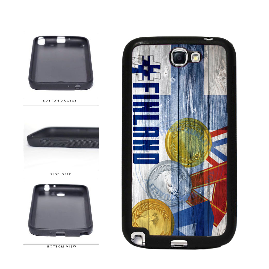 Sport Games Hashtag Team Finland #Finland TPU Rubber SILICONE Phone Case Back Cover For Samsung Galaxy Note II 2 N7100 includes BleuReign(TM) Cloth and Warranty Label