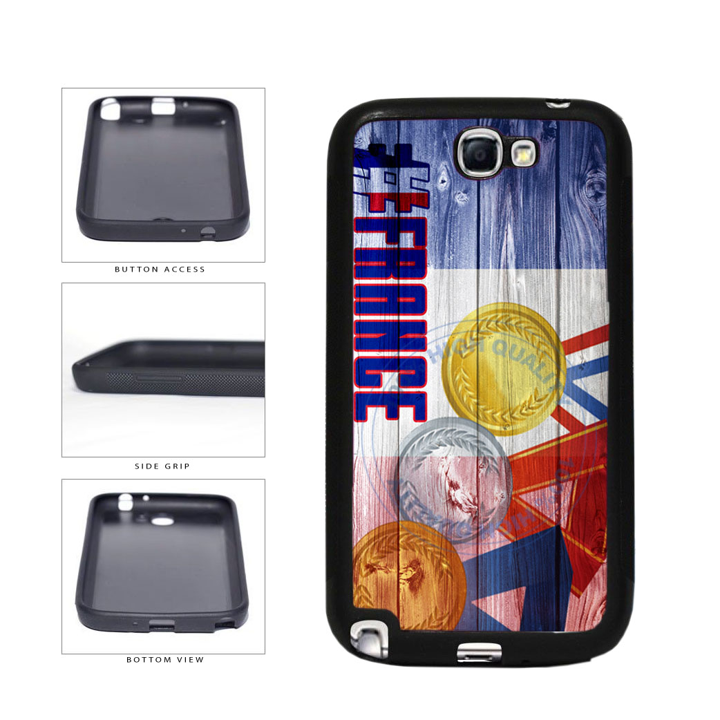 Sport Games Hashtag Team France #France TPU Rubber SILICONE Phone Case Back Cover For Samsung Galaxy Note II 2 N7100 includes BleuReign(TM) Cloth and Warranty Label