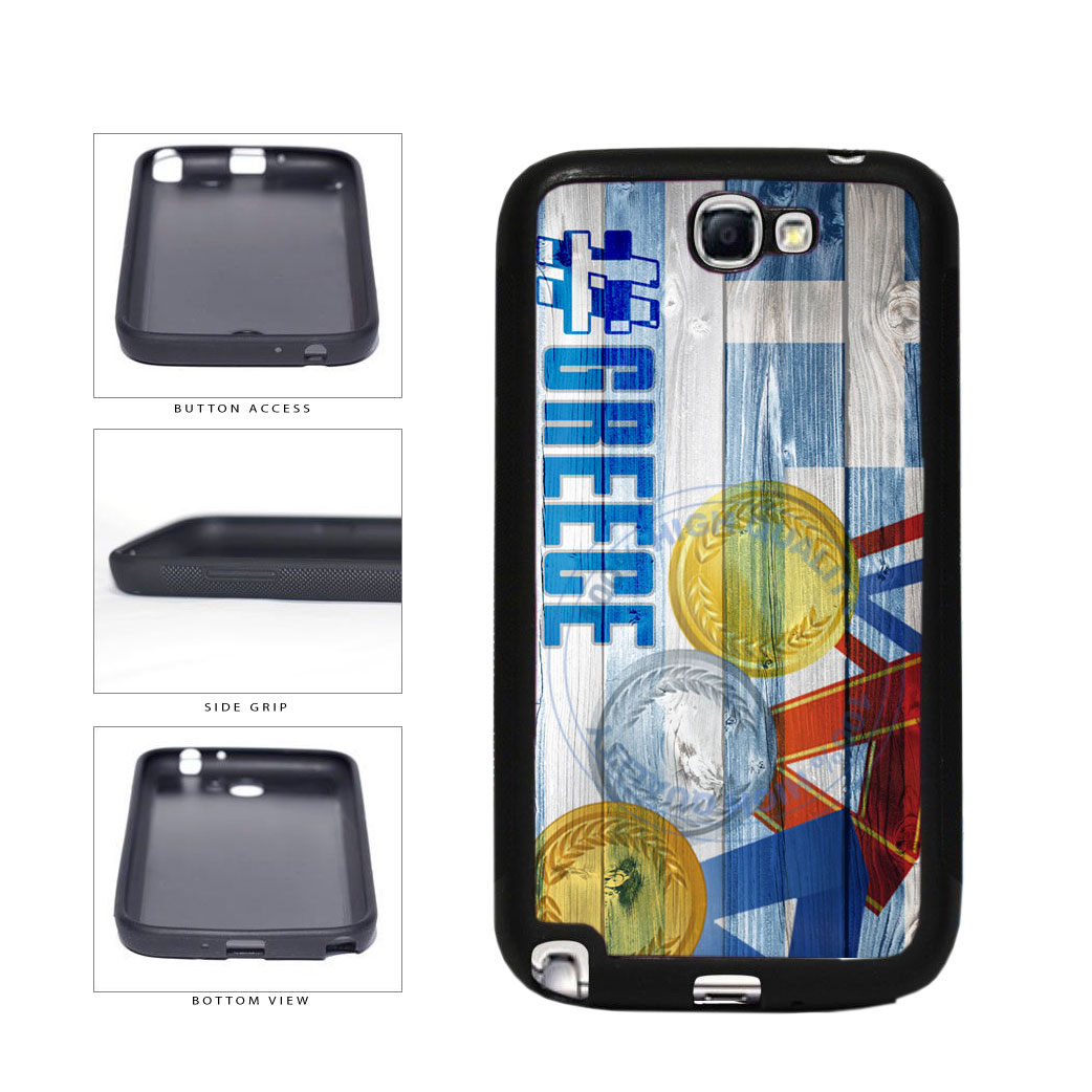 Sport Games Hashtag Team Greece #Greece TPU Rubber SILICONE Phone Case Back Cover For Samsung Galaxy Note II 2 N7100 includes BleuReign(TM) Cloth and Warranty Label