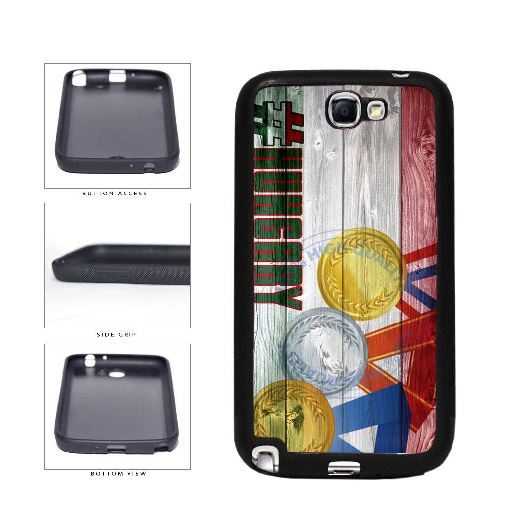 Sport Games Hashtag Team Hungary #Hungary TPU Rubber SILICONE Phone Case Back Cover For Samsung Galaxy Note II 2 N7100 includes BleuReign(TM) Cloth and Warranty Label