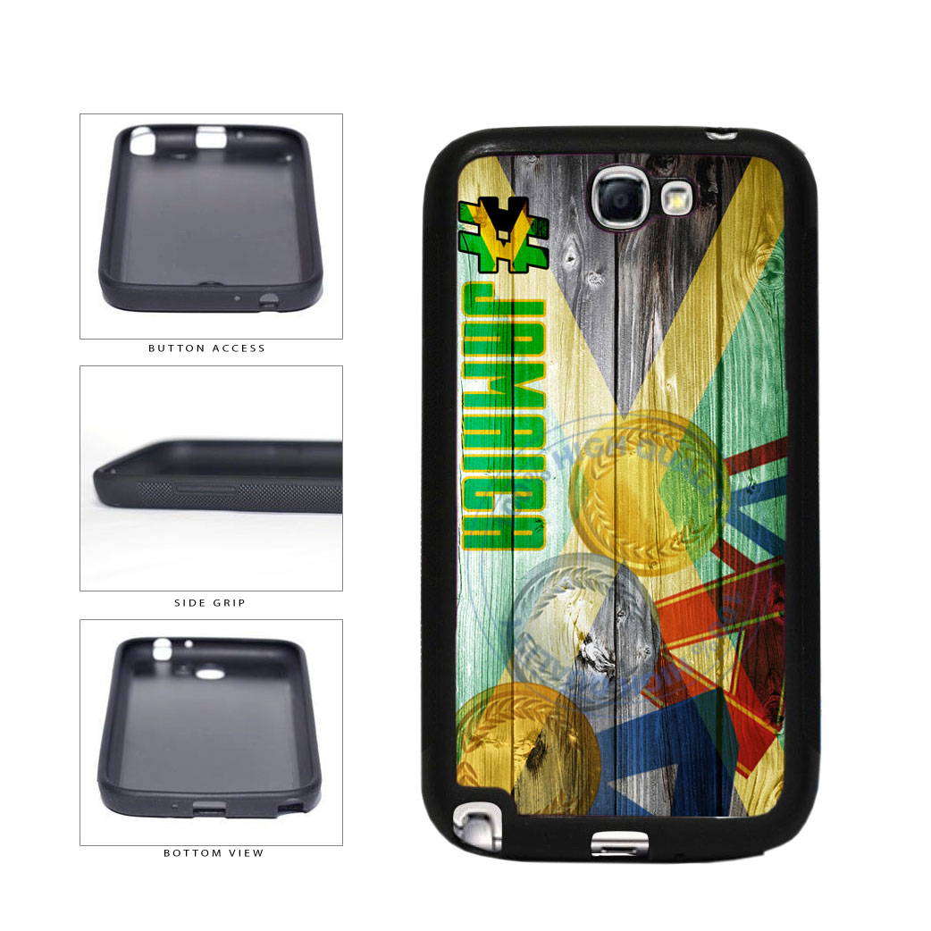Sport Games Hashtag Team Jamaica #Jamacia TPU Rubber SILICONE Phone Case Back Cover For Samsung Galaxy Note II 2 N7100 includes BleuReign(TM) Cloth and Warranty Label