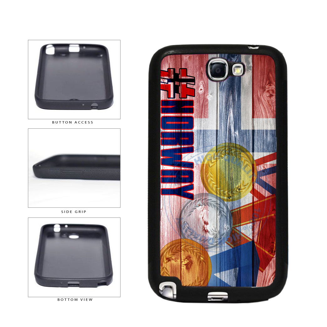 Sport Games Hashtag Team Norway #Norway TPU Rubber SILICONE Phone Case Back Cover For Samsung Galaxy Note II 2 N7100 includes BleuReign(TM) Cloth and Warranty Label