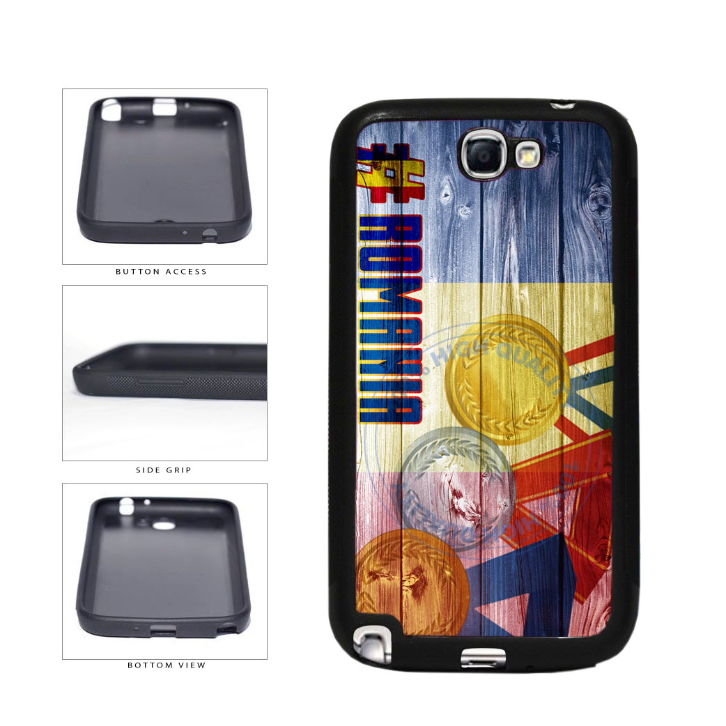 Sport Games Hashtag Team Romania #Romania TPU Rubber SILICONE Phone Case Back Cover For Samsung Galaxy Note II 2 N7100 includes BleuReign(TM) Cloth and Warranty Label