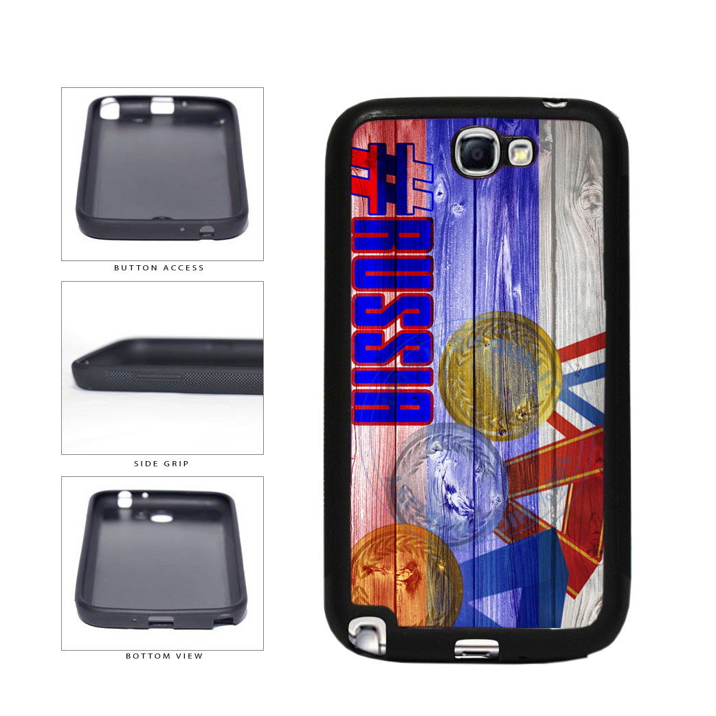 Sport Games Hashtag Team Russia #Russia TPU Rubber SILICONE Phone Case Back Cover For Samsung Galaxy Note II 2 N7100 includes BleuReign(TM) Cloth and Warranty Label