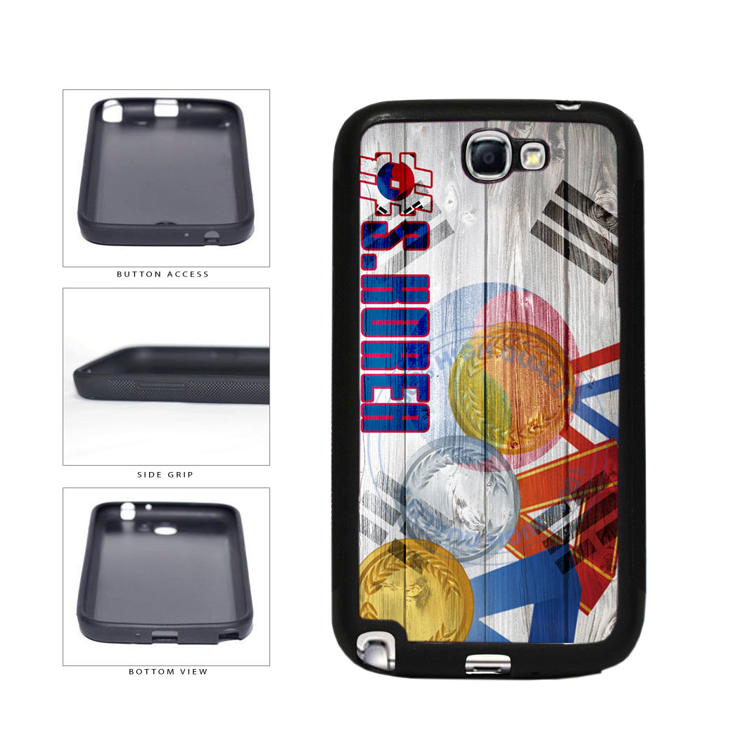 Sport Games Hashtag Team South Korea #SouthKorea TPU Rubber SILICONE Phone Case Back Cover For Samsung Galaxy Note II 2 N7100 includes BleuReign(TM) Cloth and Warranty Label