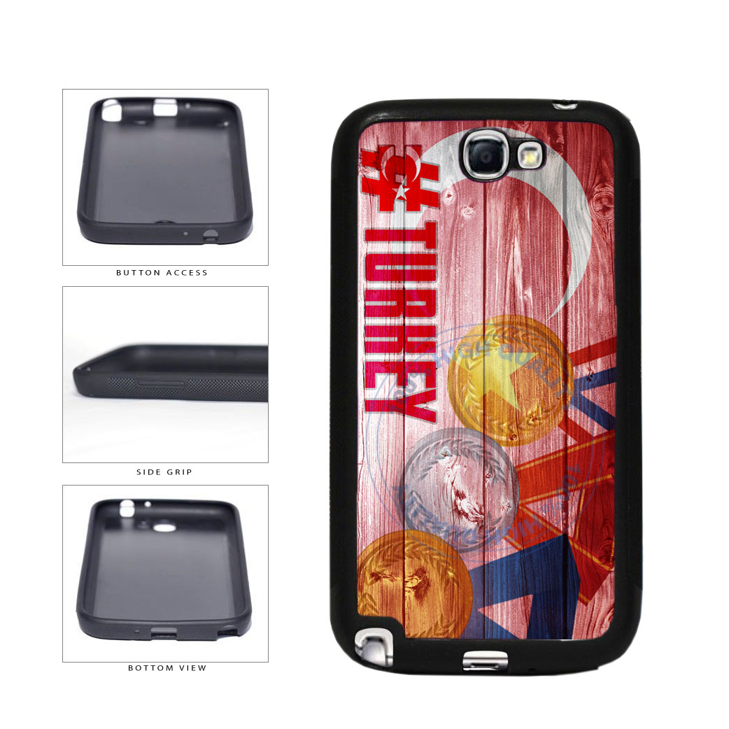 Sport Games Hashtag Team Turkey #Turkey TPU Rubber SILICONE Phone Case Back Cover For Samsung Galaxy Note II 2 N7100 includes BleuReign(TM) Cloth and Warranty Label